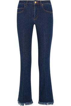 Blue denim Button and concealed zip fastening at front 98% cotton, 2% elastane Machine wash