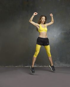 Jumping jacks to break up the running routine