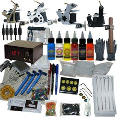 4 Machine Apprentice Tattoo Kit with Digital Power Supply & 6 Radiant – Dragon Tattoo Supply 1(888) 505 1833