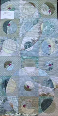 """Music of the Spheres, 48 x 24"""", by Aileyn Renli Ecob.  2015 DVQ show.  Photo by Quilt Inspiration."""