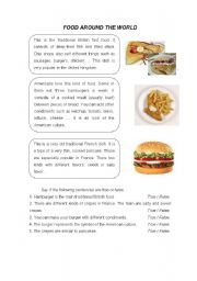 English worksheet recipe instructions process of cooking english teaching worksheets food around the world forumfinder Image collections