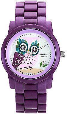 Sprout Eco-Friendly Womens Purple Owl Corn Resin Bracelet Watch on shopstyle.com