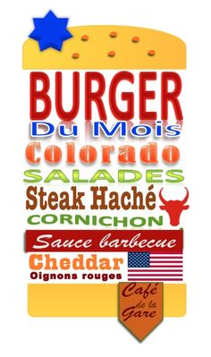 Burger du mois de juin au Café de la Gare! Café Restaurant, Sauce Barbecue, Burger King Logo, Chopped Steak, Train Station, Catering Business, June