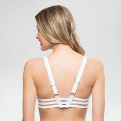 Women's Strappy Bralette Bikini Swim Top - White - XS - Sunn Lab Swim