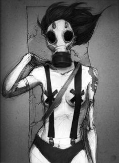 Gas Mask by Leah Smith (aka salamandersoup)