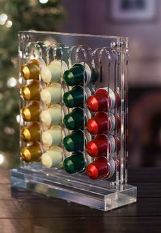 Limited Edition Versilo Capsule Dispenser   Easily store and display all of your favorite Nespresso capsules in style!