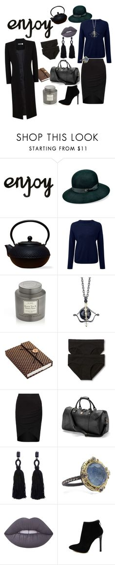 """""""Enjoy Yourself"""" by acreatorsvision ❤ liked on Polyvore featuring Karen Kane, Old Dutch, Pure Collection, Crate and Barrel, Stephen Webster, NOVICA, Gilligan & O'Malley, Aspinal of London, Oscar de la Renta and Armenta"""