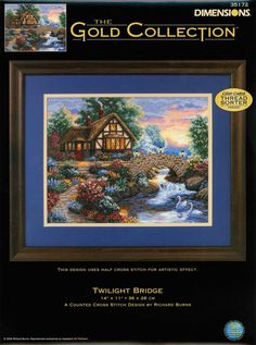 Show details for Gold Collection Twilight Bridge Counted Cross Stitch Kit Easy Cross Stitch Patterns, Simple Cross Stitch, Cross Stitch Designs, Cross Stitch Books, Counted Cross Stitch Kits, Cross Stitching, Cross Stitch Embroidery, Richard Burns, Dimensions Cross Stitch