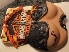 Harley Girl Birthday Cake