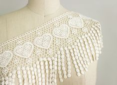 SALE 10% OFF Ivory Hearts Venetian Lace Trim / by CraftCabaret