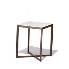 The Krusin Side Table, designed by Marc Krusin for Knoll, is from the Krusin Collection - a range of seating solutions and side tables characterised by clean linear lines.