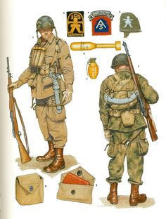 US-army faldskræmssoldater Normandiet 1944 Military Photos, Military Gear, Military History, Us Army Uniforms, American Uniform, Military Drawings, Military Diorama, Paratrooper, American Soldiers