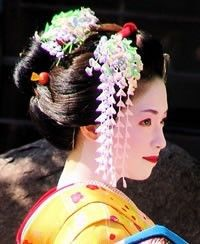 Geisha or Maiko (geisha in training)