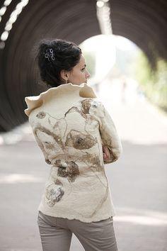 """пальто """"Гербарий.Маки"""" - пиджак пальто,Пальто в цветах,Ручной работы жакет"""