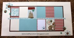 CTMH White Pines Winter layout using Cricut Artistry.