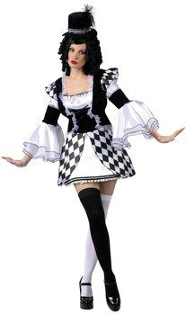 Adult Harlow Quinn Sexy Jester Costume - Candy Apple Costumes