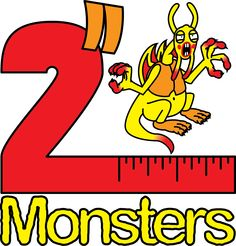 """Logo for the third batch of 2"""" Monsters. This one features the Jabberwocky."""