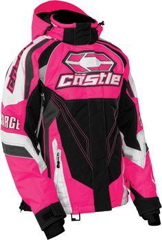 Castle X Womens Barrier G2 Black//Magenta Tri-Lam Soft Shell Jacket S-XL