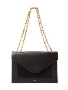Small Leather Pocket Flap Bag #Celine