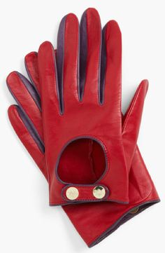Ted Baker Red Leather Gloves Nordstrom TheBestRedDress.com