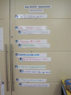 Facebook in the Classroom - status updates - conversational turn taking, maintaining topic