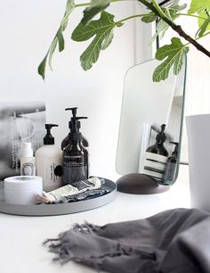 Daily beauty products tray styled to perfection | Interiors |