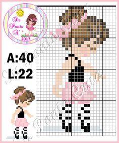 Danças,Musicas etc.. Tiny Cross Stitch, Easy Cross Stitch Patterns, Simple Cross Stitch, Loom Patterns, Cross Stitch Designs, Beading Patterns, Cross Stitch Numbers, Cross Stitch Cards, Cross Stitching