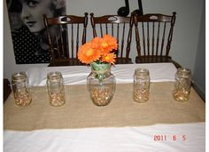 Tangerine and Ivory Wedding Decor