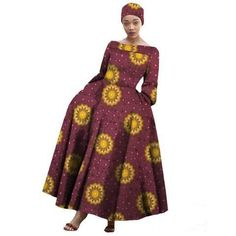 Afripride African Classic Style Ankara Dresses for Women Fit and Flare Ankle Length Cotton Dress African Maxi Dresses, African Fashion Ankara, Ankara Dress, African Dresses For Women, African Attire, Party Dresses For Women, Traditional Outfits, Ankle Length, Cotton Dresses