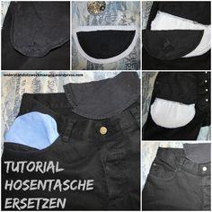 Tutorial: kaputte Hosentasche in Jeans ersetzten * Upcycling * Anleitung