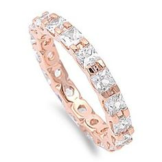Rhodium Plated Sterling Silver Wedding & Engagement Ring Clear CZ Rose Gold Plated Eternity Band 3MM ( Size 5 to 10) Size 10 Double Accent http://www.amazon.com/dp/B00AFDNOL4/ref=cm_sw_r_pi_dp_fz5Ktb11HKPY09Y6