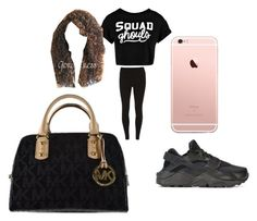 """""""black"""" by pettyallthe on Polyvore featuring Dorothy Perkins, Boohoo, NIKE and Michael Kors"""