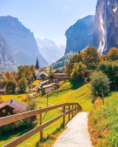 Lauterbrunnen, canton of Bern, Switzerland. One of my fav places on earth!