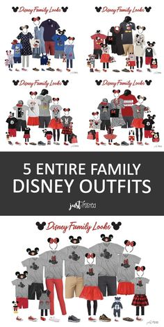 5 different Disney Family Vacation Outfits! - Are you traveling to Disney and looking for something to wear? I've got you covered with 5 differ - Disney Family Outfits, Disney World Outfits, Disney Shirts For Family, Disney World Vacation, Disney Vacations, Disney Trips, Disney Cruise, Disneyland Outfits, Disney Worlds