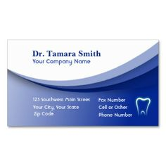 Dental Clinic Business Card Template From ZazzleCom  Dental