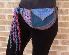 Lovely Purple - Pocket Belt - Utility belt - Festival belt - Hip bag - Bohemian - Burlesque - Money belt - Burning man - Renaissance - Fanny pack