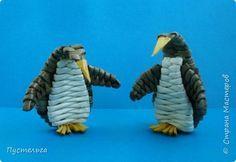 Поделка изделие Плетение Пингвин Трубочки бумажные фото 22