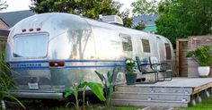 The Santa Barbara-based AutoCamp rental park features, among others, this fabulously renovated 1972 Airstream.