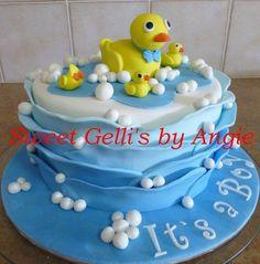 Baby Shower Duck Themed Cake - Cake by Angie Taylor
