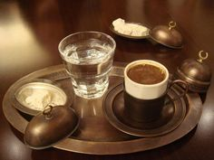 Turkish #Coffee in Istanbul, served with some Turkish Delight. By ...