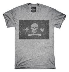 Retro Vintage Stede Bonnet Pirate Flag T-Shirts, Hoodies, Tank Tops
