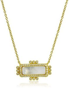 Mother of Pearl Bar Necklace Freida Rothman