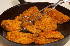 "Carla Hall's Amazing Fried Chicken  Winner, Winner, Chicken Dinner! Yield: about 4 servings.  This Chicken Is About As Close to Heaven As You Can Get and Still Be breathing!! I Dare You Taste This And Not Fall Instantly In Love!!  Happy frying and as Carla says, ""Always Cook with Love""!!"