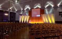 Hire The Lawrence Hall - A spacious venue for conferences, team meetings and seminars in London. Sell Tickets, Conference Chairs, Business Events, Meet The Team, Party Planning, London, Stage, Design, Stage Design