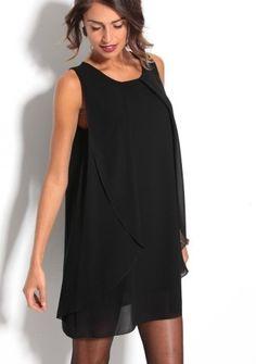 Šaty s cípmi, bez rukávov #ModinoSK #LBD Lovely Dresses, Ideias Fashion, Cold Shoulder Dress, Chanel Fashion, Wedding Ideas, Dress Black, Openness, Woman, Barrette