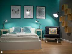 sypialnia z elementami industrialnymi - zdjęcie od Projektownia - Sypialnia - Styl Skandynawski - Projektownia