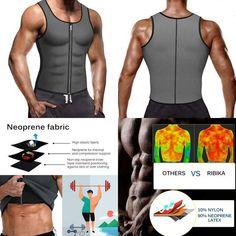 fea451537f3 Ribika Men Waist Trainer Vest Weight Loss Sauna Tank Top Sweat Vest Workout  Shir  fashion