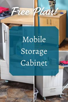 From the shop to your home, wherever you need storage, this cabinet plan is perfect for you! Download our free plan and get started on yours today.  #createwithconfidence #mobilestoragecabinet #diycabinet #diystorage Beginner Woodworking Projects, Teds Woodworking, Woodworking Crafts, Mobile Storage, Diy Storage, Cabinet Plans, Workshop Organization, Wood Working For Beginners, Wood Plans