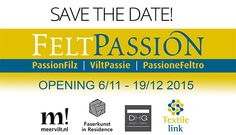 FeltPassion International Exhibit of Felt Works! November 6th opening in DHG! Over one hundred participating artists in this amazing exhibit. Exult of colors, shapes and inspirations. Objects, clothes, tapestry, furnishing and more. Felt applications are limitless. No boundary! The exhibition is connected to FeltPassion, popular book born from the cooperation between Ellen Bakker, Ricarda Assmann, the dutch company Meervilt!, DHG and Faserkunst-In-Residence team.