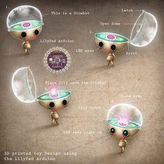 Lisa Evans: Glowbot 3d printed toy design